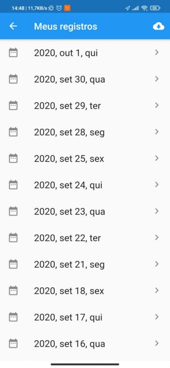 Listagem de Registros